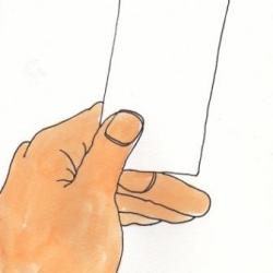 白紙の領収書