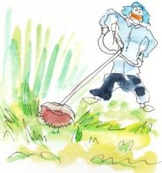 草カリカリ