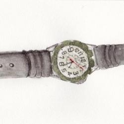 久々の腕時計