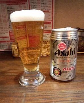 ビール(350円)