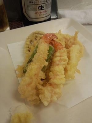 天ぷら盛り合わせ650円