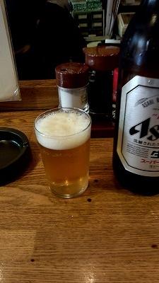 瓶ビール大(490円)