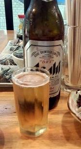 M瓶ビール(380円)