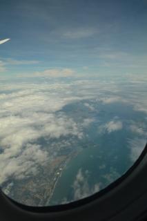 日向灘より宮崎県上空へ入る