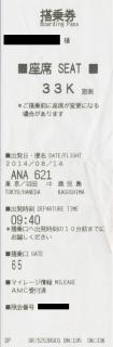 ANA621搭乗券