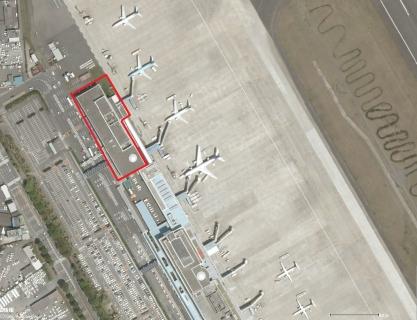 鹿児島空港上空写真