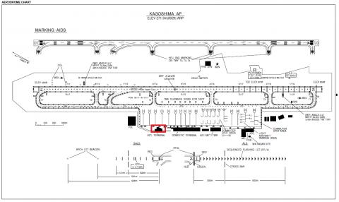 鹿児島空港平面図