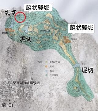 厨城跡縄張り図(現地)