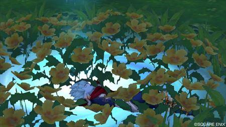 メギストリス花壇中央旅の扉 寝る_R