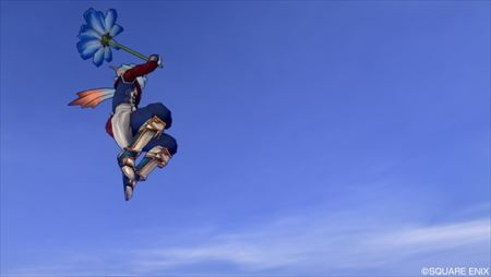 青色れんげ傘ジャンプ_R