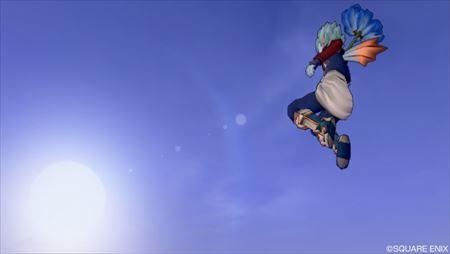 青色れんげ傘ジャンプ1_R