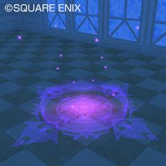大きな魔法陣ラグ紫