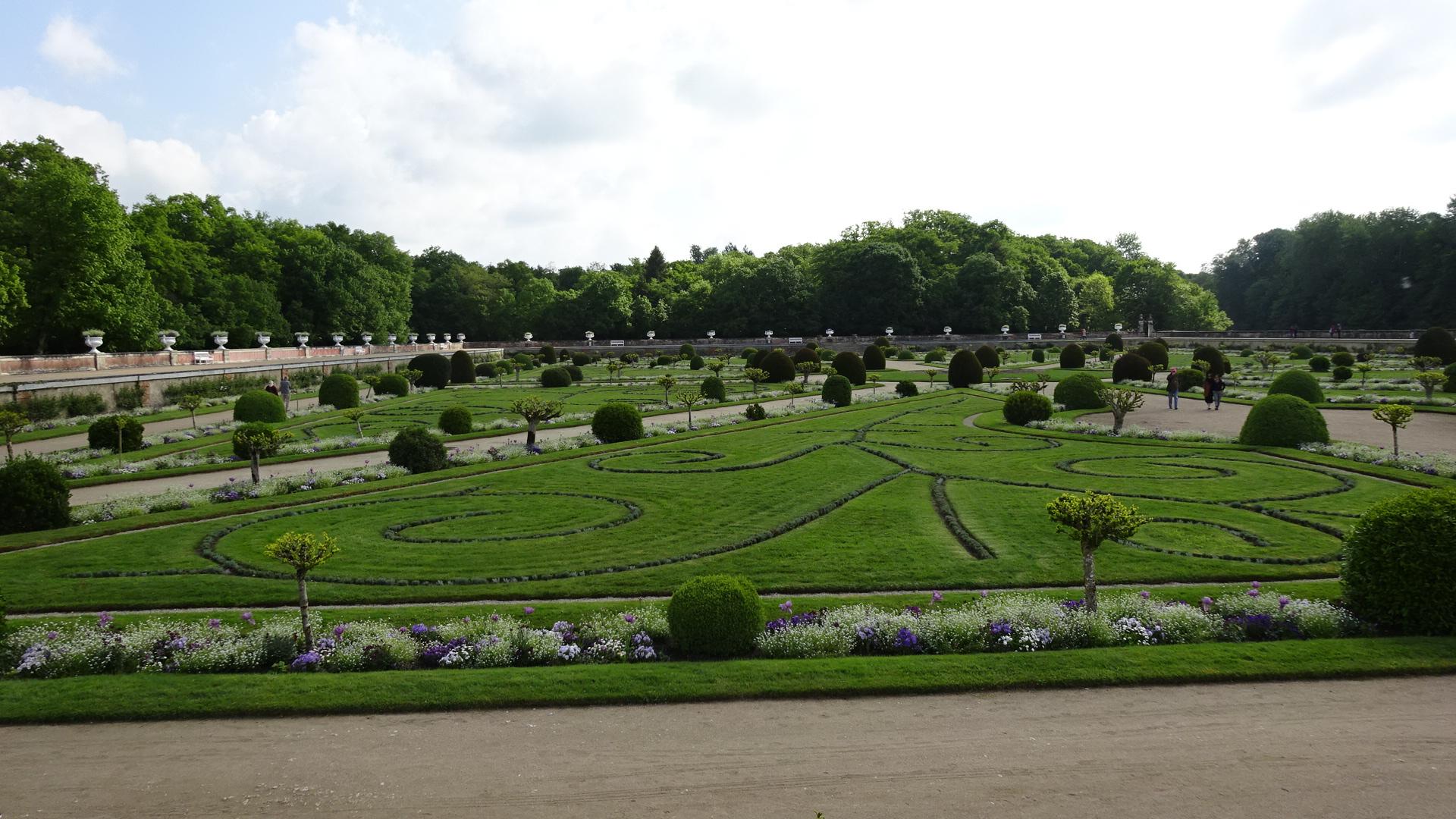 シュノンソー城の庭園