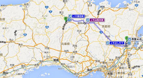 京都 上賀茂神社 から 竹田城跡「天空の城」 電車 北コース