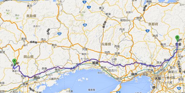 京都 上賀茂神社 から 備中松山城 車「天空の城」