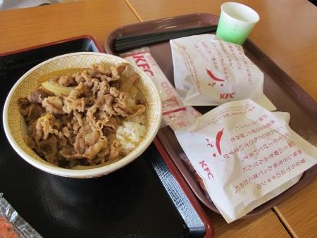 牛丼とケンタ