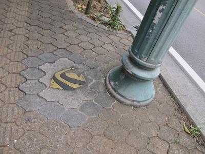 石垣島 歩道タイル