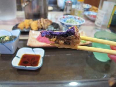 紫芋の天ぷら