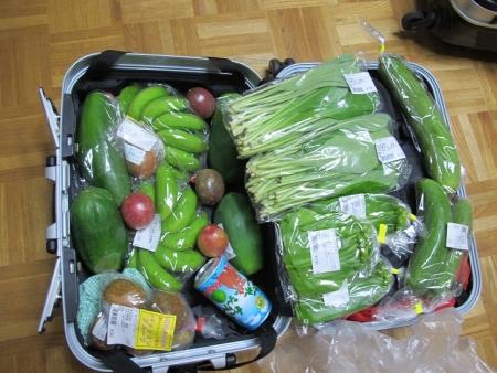 買った野菜とフルーツ