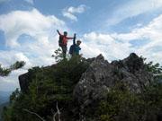 052第1岩峰頂上