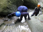 011なめ滝を登る