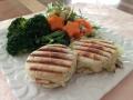バジルとオリーブオイルのパン ランチ
