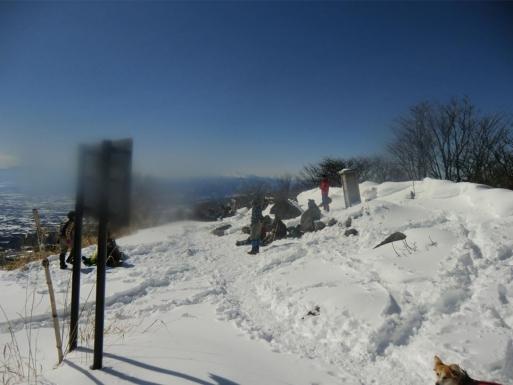 前回2/11の山頂
