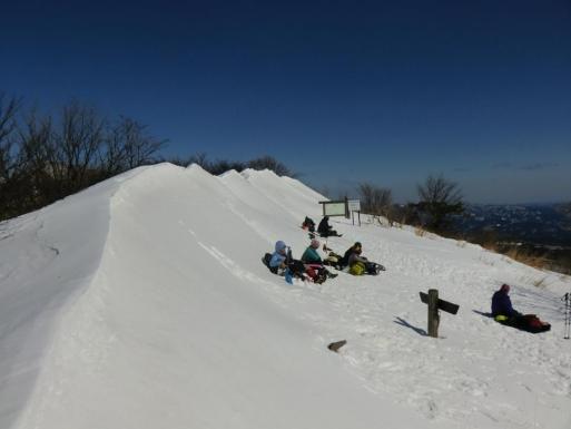 今日の山頂