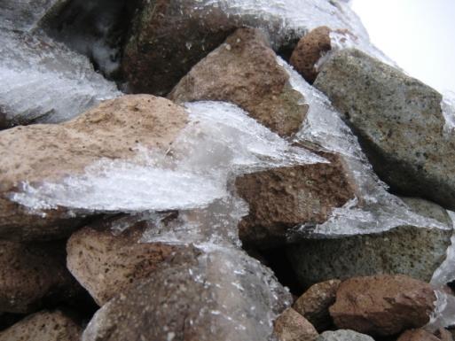 石にも霧氷