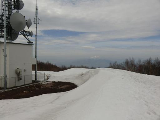 雪庇状に後方に浅間山
