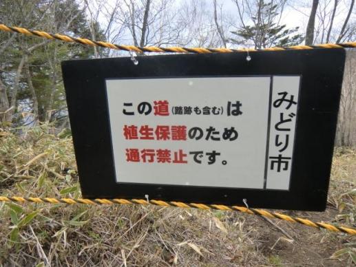 進入禁止ロープ