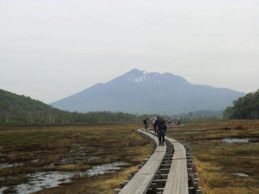 燧ケ岳に向かって