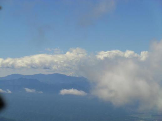 車坂山から一瞬、富士山