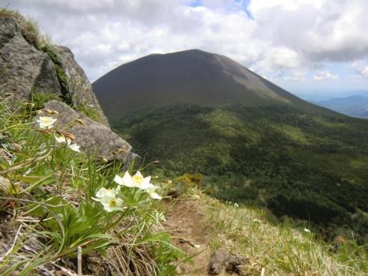 草すべりから浅間山