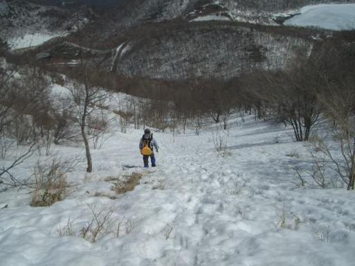 地蔵岳から八丁峠へ