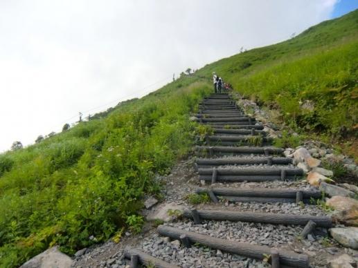 車山への階段