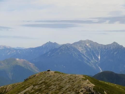 富士見岳から畳槍、穂高連峰