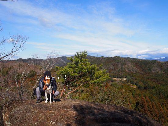 小山にのぼったよ。