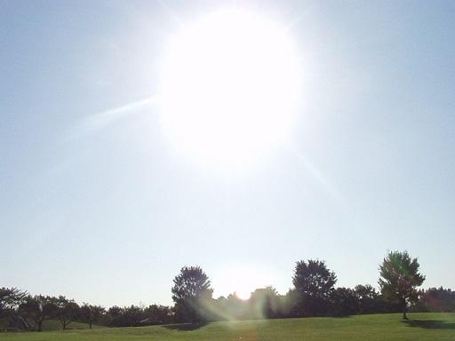 太陽が跳ねる