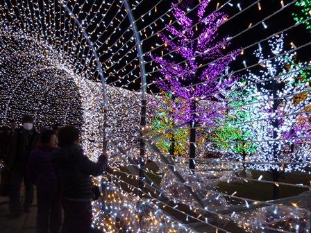 osaka-jyo illumination tunnel