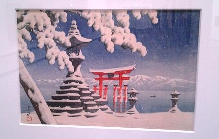 雪の厳島神社