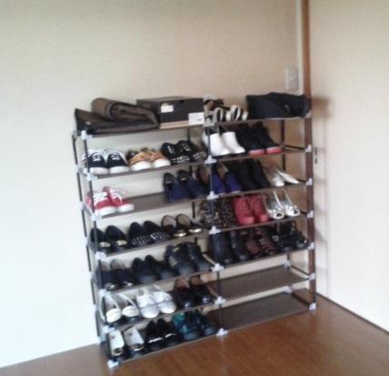 あふれた靴