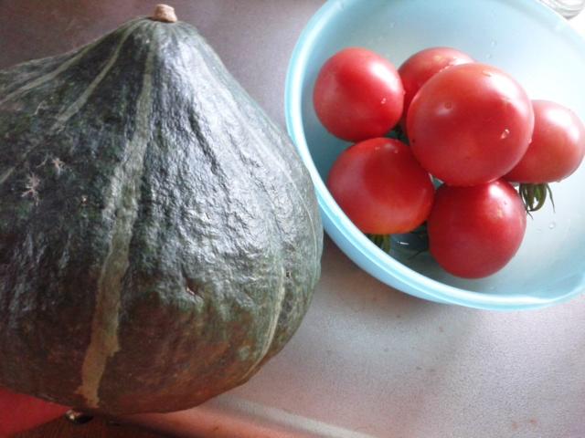 トマトとかぼちゃ201408
