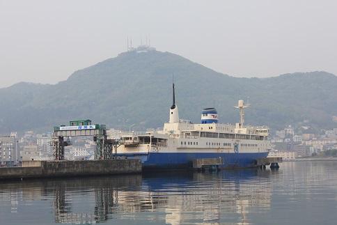 函館山と摩周丸