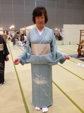 加賀友禅の訪問着20140705
