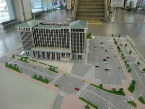 新市庁舎模型