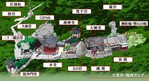 千光寺配置図