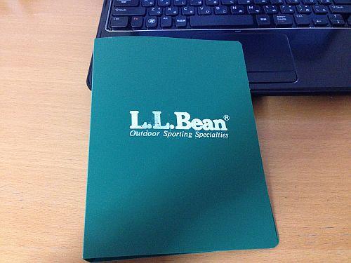 LLBeanのシステム手帳バインダー