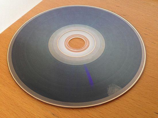 ブルーレイディスクの記録面 右下がおかしい