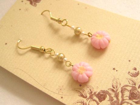桜の和菓子のピアス0225